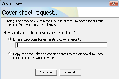 create cover sheets